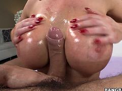 Lewd blonde milf Nikki Benz shows her butt to some guy and lets him toy it. Then the man slides his cock into Nikki's hot asshole and fucks it deep and hard.