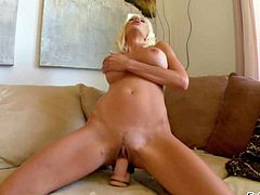 Hot blonde milf Puma Swede plays with dildo