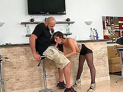 Horny chick Alexa Rydell, being all crazy after a couple of drinks is ready to have some hard sex with her boyfriend Jmac, that for sure loves her in this kind of state.