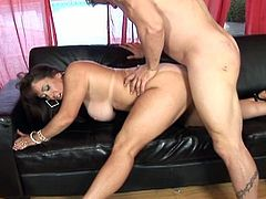 Arriving home from work, this hubby needs a little to relax a bit at home. Good thing his lady Anita Cannibal just know what to do. Watch her as she take her man's boner between her lips and tits then balls deep in her shave and wet slit.