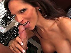 Syren De Mer has ended her searches for the ideal dick. Christian XXX has the perfect pink penis that she loves to suck. She adores the feeling of the throbbing dick-head on her tongue.