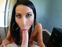 Superb brunette Sophia Bella likes having her round ass deep pounded by horny hunk Kevin Moore
