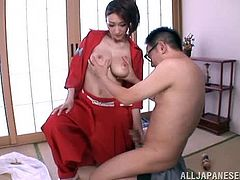 This juicy and super naughty Japanese honey is a kendo instructor. Honey deals with a cock just like she deals with a sword!