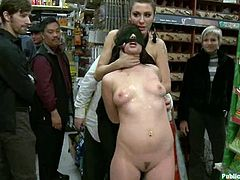 Pubic perversions will never end in this country, when there are some people like in this porn video. Two men are fucking this sexy babe Lindy Lane in the store.