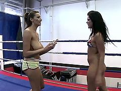 Janelle and Madison Parker face each other on the rings. It is pretty interesting how do they see each other - as counterparts or partners that are going to make love today.
