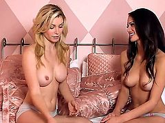 This is not something that you will see all the time and it is all about Heather Vandeven and her GF. They love to pose and show off their tits and hard nipples...