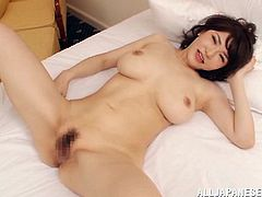 This sizzling and horny Japanese bunny is so fucking amazing. She gives a real hot handjob and then gets drilled in a variety of sex poses.