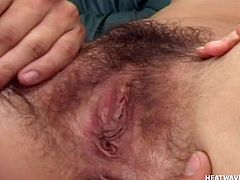 She forgot to shave her pussy and that made me fucking horny. I like her cunt bald but when it's hairy it difficult for me not to lick it. First I gape her vagina, slide my tongue between her pussy lisp and then I slide my dick in her mouth. Yeah she sucks my dick like a whore that she is!