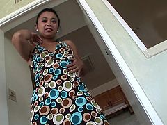 Mature Filipino woman Lucky Star wants to masturbate for. She strips out of her dress and uses a pink vibrator on her wet cunt. She pinches and rubs her nipples. Watch as she pushes her vibrator deep inside her self.