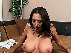 Booty milf with trimmed snatch, Ava Addams, prefers to spend her weekend with James Deen, because she loves to swallow his big yummy dagger. He wants to please this cocky slut too