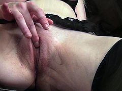 Mind taking blond prostitute arouses her client with a seductive striptease, which ends up with an intensive finger fucking of her pinkish twat.