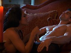 Superb milf enjoys having intense pleasure during romantic hard pounding session