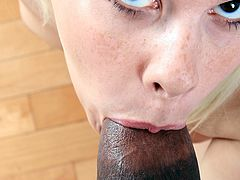 Huge black cock makes young Kinzy Jo very afraid
