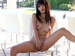 Effortlessly seductive Japanese goddess Marica Hase is one of the sexiest babes we have ever seen. She has nice tits and amazing body. She spreads her legs and pets her smoothly shaved pussy for you to enjoy.