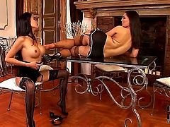 This is the video in which you are gonna see two Asian honeys Danika and Eve Angel who love long legs. That is what they are gonna show in this clip.