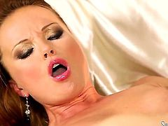 It is like her life depends on whether or not she is gonna cum hard! Meet delicious XXX princess Silvia Saint who is using her fingers to get off real hard.