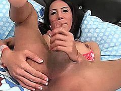 Sexy ladyboy jerking huge swagger