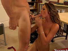 Appetizing babe Kortney Kane is poked actively in a missionary position