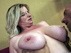 That lady is so fucking nasty and fat. But that is not problem for her lover, as he gets sponsored by this rich mature BBW lady.