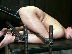 This kinky bitch loves BDSM action. Look at her face! She is completely happy to be tortured. She gets roped and toyed in a rough manner.
