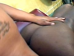 Booty ebony slut Krystyle gets all her holes fucked  at the same time in this steamy porn video. Don't miss this hot scene of ebony sex!