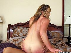 Naughty blonde sweety Shayla LaVeaux finds the perfect position that makes her cum! She climbs on top of him and rides him silly.