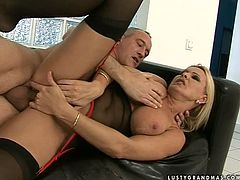 She knows how bad he loves her tight twat. So he licks it and then makes her blow him. After some oral delights, he sticks his cock in her snatch and makes her stun.