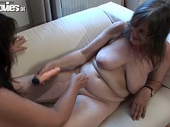 Two filthy and sexcited grannies are so fucking naughty. They get on each other's twats and enjoy the action. Damn, that is so lovely!