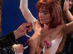 Redhead fetish spanking and pussy vibrating