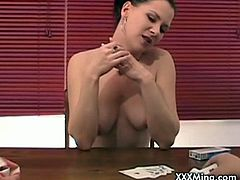Watch sexy Mina giving an awesome blowjob right after a poker game, Mina is always into new things,hand jobs, lap-dances, a girlfriend's lactation attack,the smoking fetish, outdoor action, some domination, one or two strange insertions and tease.