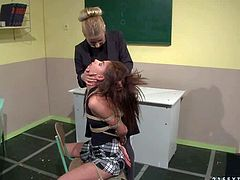 Schoolgirl Betty Stylle gets dominated by her teacher