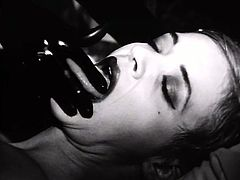 This black and white video featuring Mistress Morgana includes domination, torture and a black glove that can cause havoc in a girl's pussy.