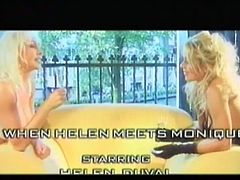 It all starts as a lesbian sex between two hot big titted blonde chicks! Then they start sucking off a big black meat to satisfy the cock-hunger!