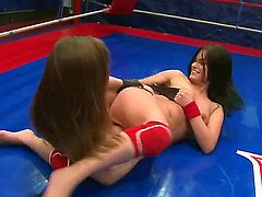 Lexy Little and Nicole Sweet are professional fighters, but sometimes they get naughty and play with each other. Just take a look how they are masturbating and licking pussies