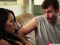 James Deen is ready to pound Asa Akira's perverse mouth in this hot vid set by Digital Playground. Then it's time for this slutty Asian belle's clam to be banged balls deep into a spectacular orgasm.