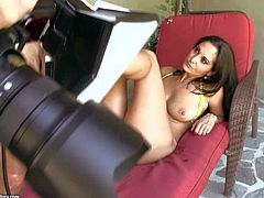 Sexy bodied brunette mom Ava Addams with big shapely ass gets her feet and vagina fucked hard by her hard cocked fuck buddy. Watch sexy bodied MILF with foot fetish do wild things.