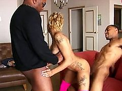 Sexy blonde slut fucked