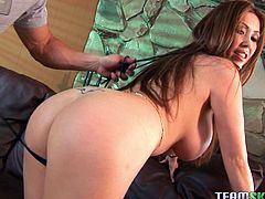 Watch Kianna Dior end up with her face covered by cum in this hardcore scene where she's fucked silly by a big fat cock.