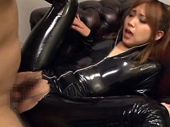 This Japanese siren is a horny slut that loves getting two clients at a time. So this time she gets it double and her pay is twice bigger for sure.