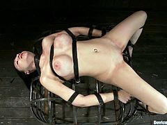 Tacori Blu is the naughty girl who's going to go through some crazy stuff in this video where she'll endure extreme bondage and toying.