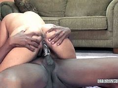 Busty Latina housewife Angel Dark gets her hot pussy pounded with a stiff black cock. Watch as this chubby woman bends over and gets fat pussy gaped in this hot interracial fuck.