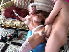 Wild milf gets nailed hard