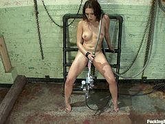 Watch Vicki Chase while she gets continuously pounded in her wet hole by the machines through the clip. Don't hesitate and start watching the video now!