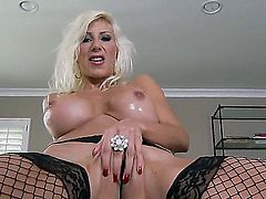 Vigorous slut Puma Swede with gorgeous body curves cant run from her sexuality. Powerful sexual energy is fountaining out of her. Her masturbation is so fantastic.