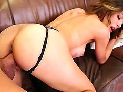 Watch this so cool banging with Heather Vahn and Xander Corvus. Horny babe is giving nice fellatio to male before getting her wet snatch stuffed by his fat rod.