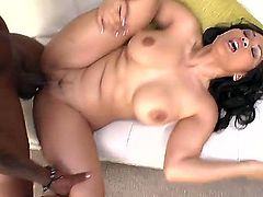 Great Asian mistress Jessica Bangkok seduces this hot black man with her huge boobs, delicious ass ans sexy hips. She meets so huge and powerful dick for the first time!