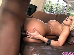 horny blonde is eager to feel black dick penetrating her tight vag in wild interracial fuck