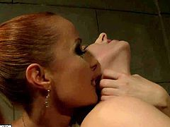 Chained Ary gets tortured by filthy milf