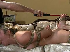 Kinky Lia Lor gets tied up and gagged. After that she gets hit with electricity. Later on she also gets fucked and toyed.