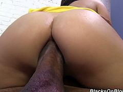 See the kinky brunette temptress Gabriella Paltrova as she rides her man's thick black dong with her hot ass and tight pink clam. Then she's ready to let him finger her lovely asshole.
